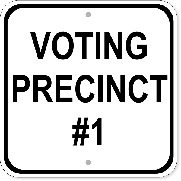 Voting Precinct Sign