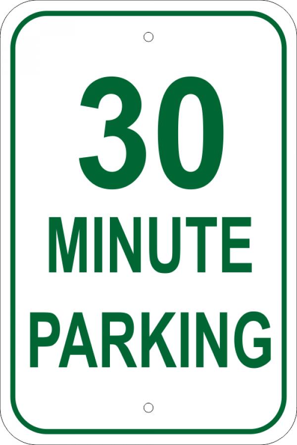 Custom Minute Parking Aluminum Sign