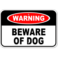 s 12x18 Aluminum Sign-Beware of Dog Boxer Steel and Wood Look Metal