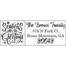 Calligraphy Address Stamp Calligraphy Custom Address Stamp Return Address Stamp Self Ink Stamp Christmas Gift R384 Family Address Stamp