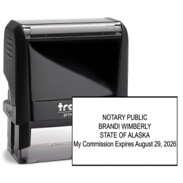 Alaska Notary Rectangle Stamp