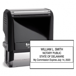 Delaware Rectangle Notary Stamp Seal