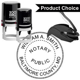 Maryland Notary Round Seal
