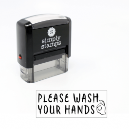 Please Wash Your Hands Stamp for Teachers