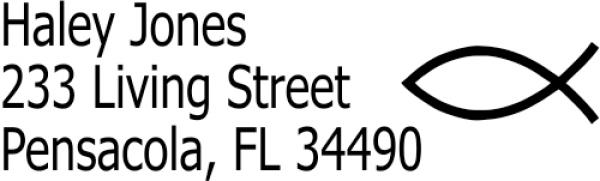 Christian Ichthys Address Stamp