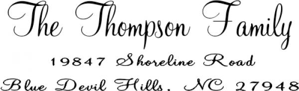 Thompson Handwritten Return Address Stamp