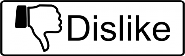 dislike Facebook rubber stamp