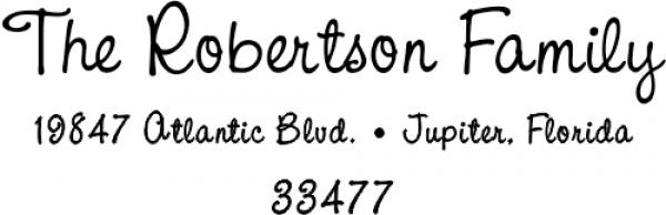 Robertson Family Handwritten Address Stamp