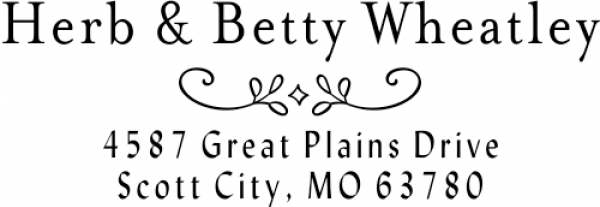 Wheatley Deco Address Stamp