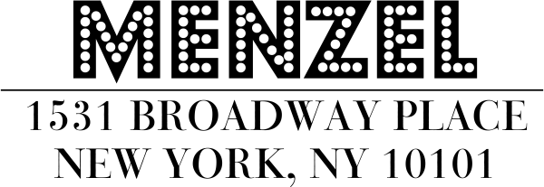 Menzel Address Stamp