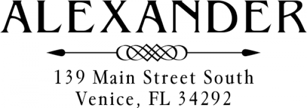 Alexander Arrow Custom Return Address Stamper