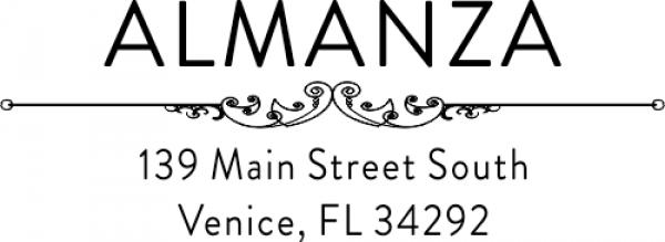 Almanza Deco Custom Retrurn Address Stamp