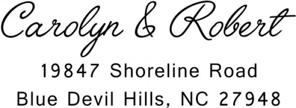 Cursive Handwritten Custom Address Stamper
