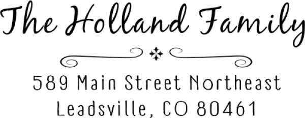 Holland Curly Deco Address Stamp