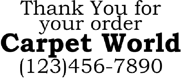 Thank You for Your Order Stamp
