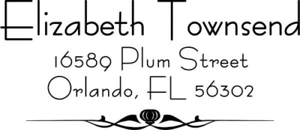 Small Standard address stamp