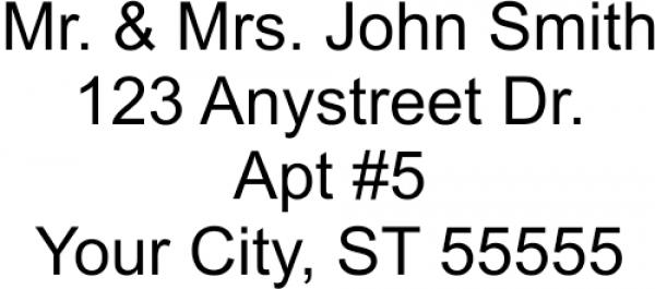 Rectangle 4 line address stamp