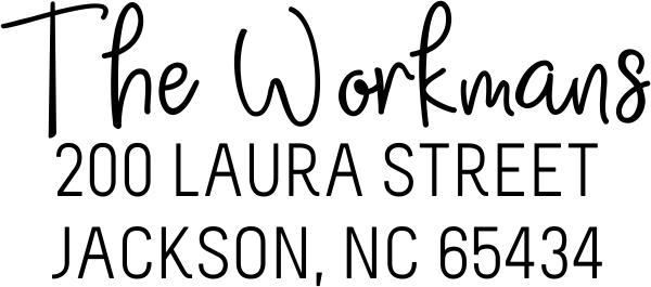 Workman Address Stamp