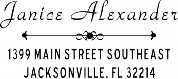 Alexander Vintage Address Stamper