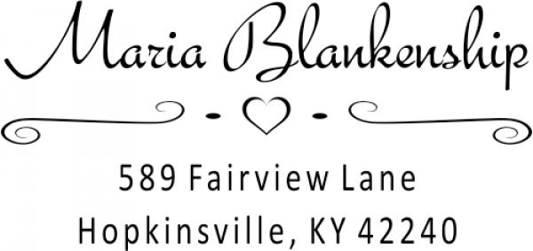 Blankenship Deco Address Stamper
