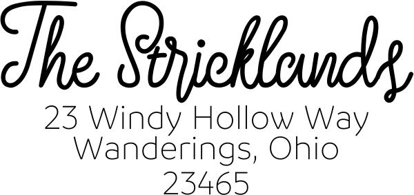 Strickland Address Stamp
