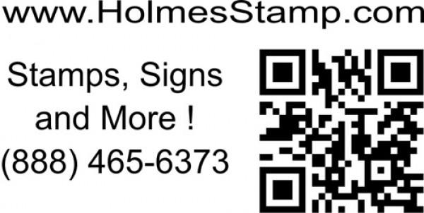 QR Code Stamp URL Top