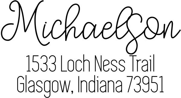 Loch Ness Address Stamp
