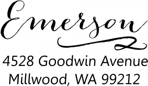 Emerson Swash Address Stamp