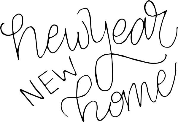 New Year New Home Stamp