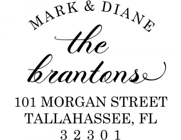 Branton Script Return Address Stamp