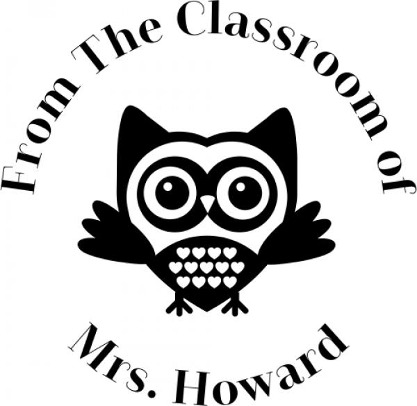 Owl Classroom Teacher Rubber Stamp