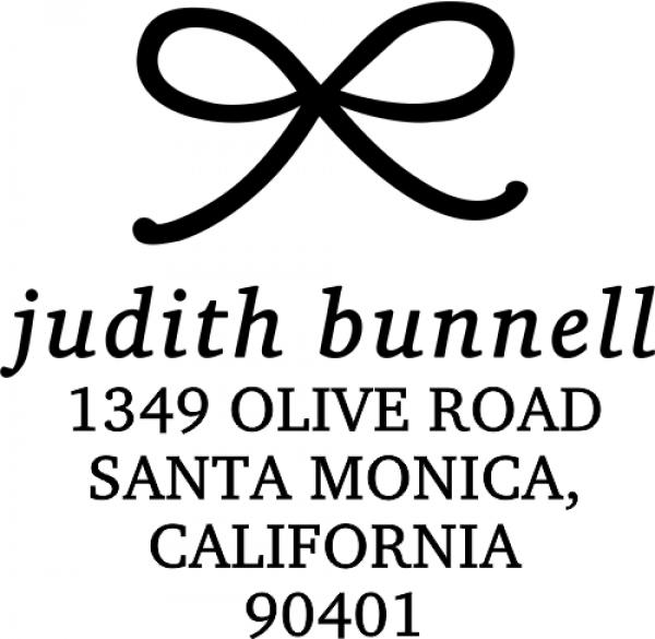 Elegant Bow Return Address Stamp