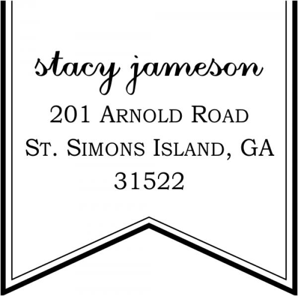Ribbon Return Address Stamp