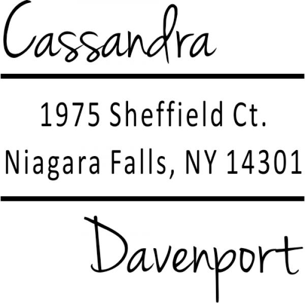 Davenport Offset Address Stamp