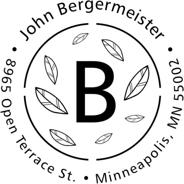 Bergermeister Leaves Return Address Stamp