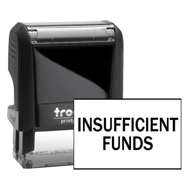 Insufficient Funds Rubber Stamp