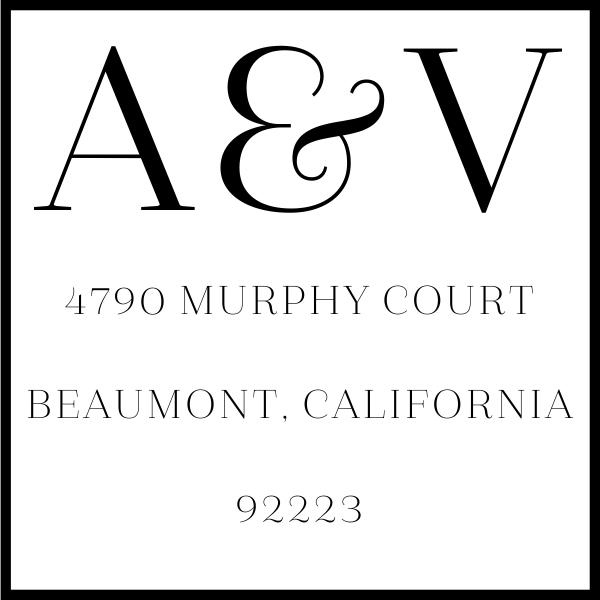 Azalea Monogram Address Stamp