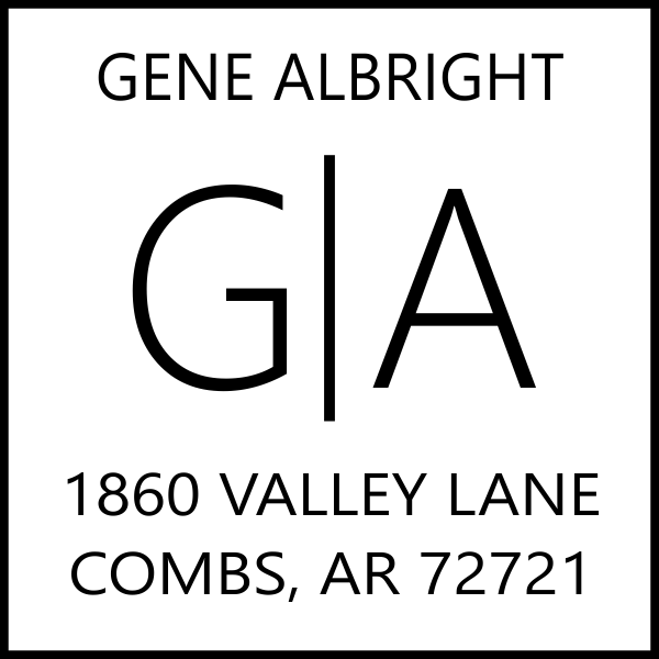 Split Monogram Address Stamp