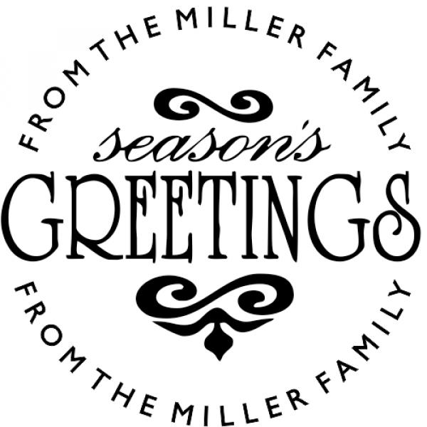 Seasons Greeting Holiday Stamp