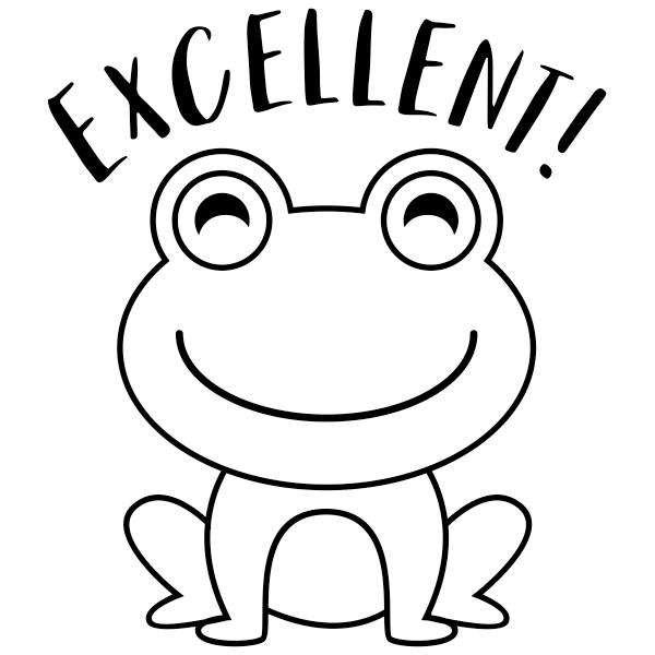 Excellent Frog Encouragement Round Teacher Stamp