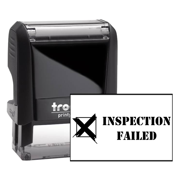 Inspection Failed Rubber Stamp