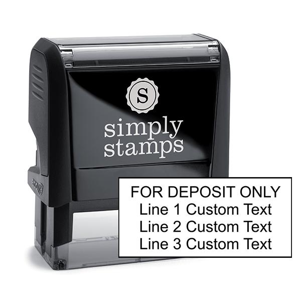 4 Line Self Inking For Deposit Stamp