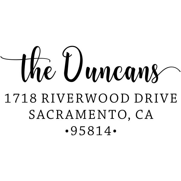 Duncan Script Address Stamp