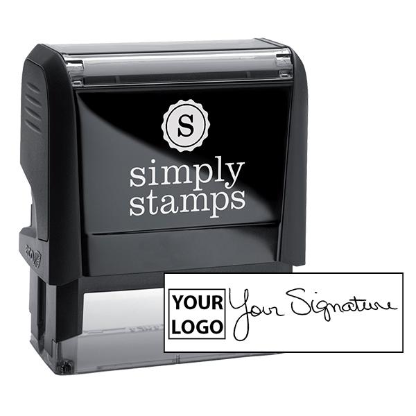 Large Signature Logo Stamp