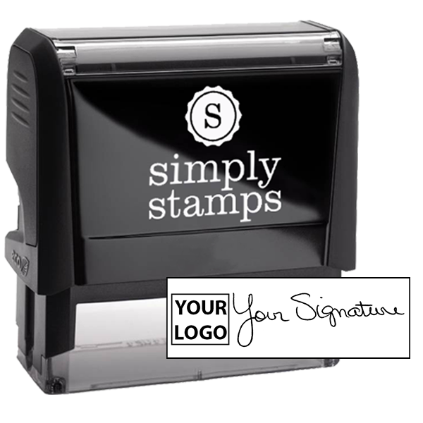 Extra Large Signature Logo Stamp
