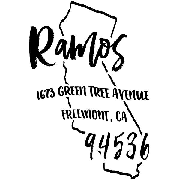 Custom California Address Stamp