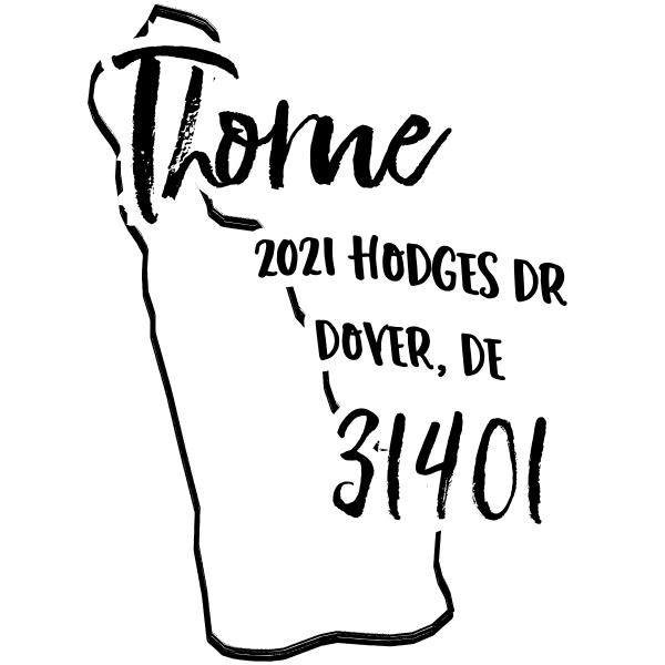 Custom Delaware Address Stamp