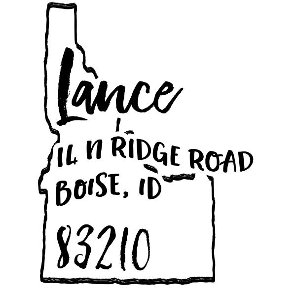 Custom Idaho Address Stamp