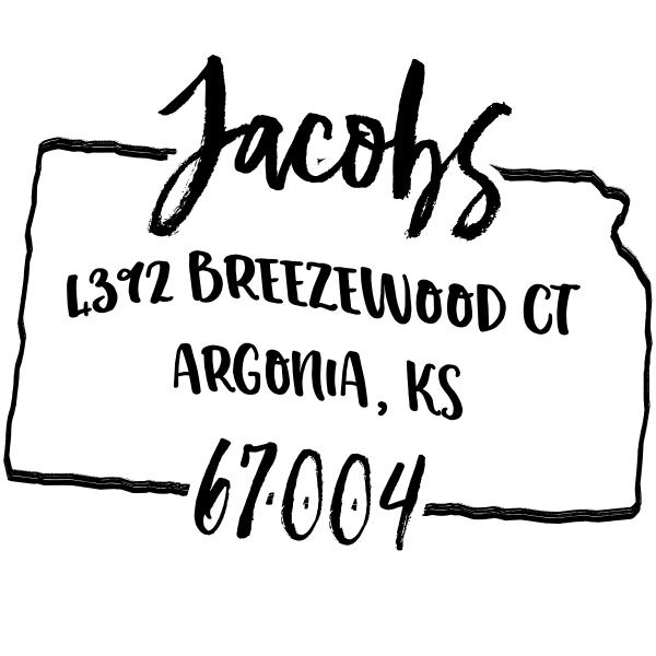 Custom Kansas Address Stamp