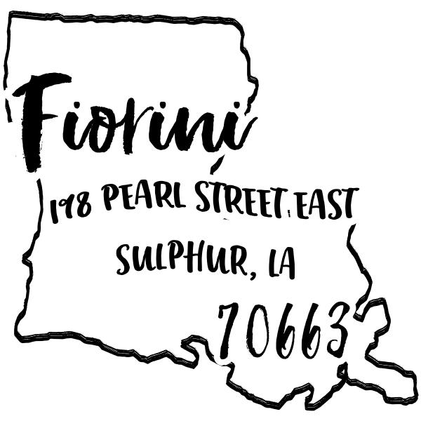 Custom Louisiana Address Stamp